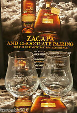 Ron Zacapa Rum glasses X TWO FREE POSTING
