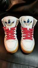 ADIDAS  COURT ATTITUDE WHITE GREEN PINK WOMENS SIZE 7-1/2 US  SNEAKERS Q32913