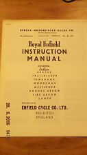 ROYAL ENFIELD INSTRUCTION MANUAL, INDIAN MODELS (SEE DESCRIPTION)  [3-43]