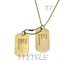 TTstyle Vintage Copper Double Dog Tag Engravable NEW