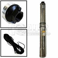 "4"" Deep Well Submersible Sub Pump 2 HP 220V 35 GPM 400' Head Stainless Steel"