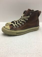 Converse Chuck Taylor All Star Brown Leather Sneaker Boots SZ 7.5 Men 9.5 Women