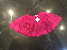 NWT Juicy Couture New & Genuine Girls Age 10 Pink Cotton Skirt With Juicy Logo
