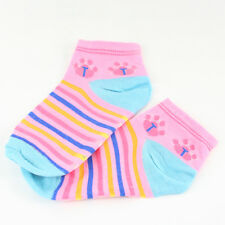 chaussettes socquettes fille rayées T 4-8 ans pointure 23/27 rose neuf Victorine