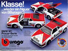 Burago-- BMW M 1 -- Procar Serie - 1:24--Werbung von 1980--