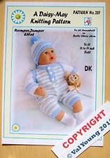 """1  DOLLS KNITTING PATTERN for Annabell or 18""""-20"""" doll  No.287 by Daisy-May"""
