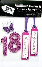 Rose 18e Anniversaire DIY Carte de vœux Toppers personnaliser les cartes artisanales vous-même