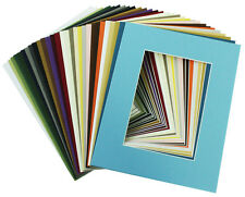 Set of 20 MIXED COLORS 11x14 Picture Mats  with WhiteCore for 8x10 Pictures