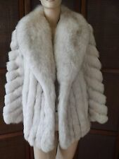 Evans Furs at Robinsons Genuine Silver Fox Fur Coat Jacket Small size 6