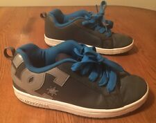 DC Shoes Youth's Court Graffik Leather Skateboard Shoes Boy's Youth Size 7