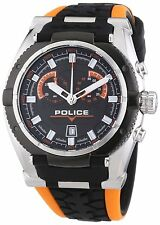 Police PL14215JSTB/02A ROAD RACE Herren Armbanduhr schwarz orange Herrenuhr