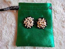Angela Caputi Resin Earrings (clip), with branded gift bag, NWOT.