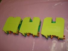 Lot of 3 - Phoenix Contact UKH 50 - 3009118 - Yellow & Green Terminal Block