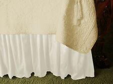 NEW SOFT SURROUNDINGS PROVENCAL SILK BEDSKIRT BISQUE KING