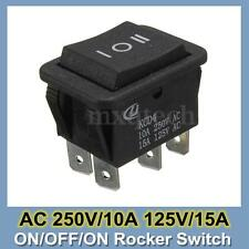 6 Pin Auto On-Off-On Momentary Power Window Rocker Switch AC 250V/10A 125V/15A