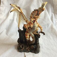 Dragon guarded Treasure Figurine / Statue Fantasy  Decor Veronese