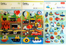 Cute Fun Children's transport spaceship gift diary scrapbook Felt Stickers