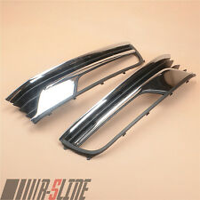 A Pair Front Bumper Lower Fog Light Grille Grill For VW Passat EU Version B7 New
