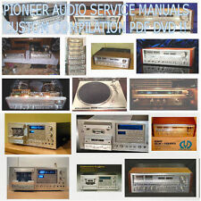 Pioneer Service Manuals Schematics, Custom Compilation DVD Collection PDF DVD