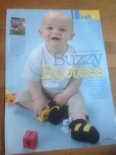 Buzzy Bootees Knitting Pattern By Kirstie McLeod