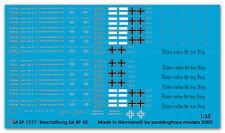 Peddinghaus 1/32 1277 étiquette pour panzerzug BP 42