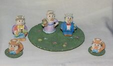 YOUNG'S INC. 10 PC MINI MINIATURE PIGS TEA SET CUPS SAUCERS PLATTER