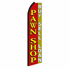 PAWN SHOP Advertising Sign Swooper Feather Flutter Banner Flag Only