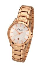 New Classic Lady's Rose Gold Etched Face Coach Watch 14501452