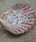 100+ Silver plated Open Jump Rings 5mm dia x 0.7mm thick Art Craft brand new