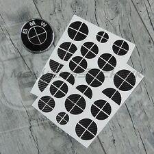 Set BMW Emblème Logo Autocollants coins 1er 3er 4er m3 x1 x3 x4 x5 Noir Carbone