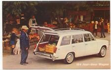 Fiat 124 4 Door Station Wagon USA Postcard