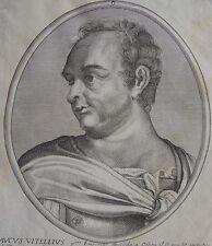AUCUS VITELLIUS, SUCCEDA A OTHON......... Portrait. Paris chez Daret. Gravure or