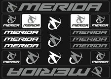 Merida Mountain Bicycle Frame Decals Stickers Graphic Adhesive Set Vinyl Gray