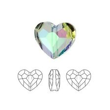 Swarovski Crystal Faceted Love Beads Heart 5741 Paradise Shine 8mm Package of 24