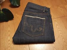 LADIES WESC EVE 5 POCKET STRAIGHT RAW JAPANESE SELVEAGE JEANS (25) 26 X 34 NWOT!