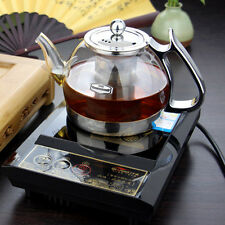 Clear Glass Heat Resistant Infuser Teapot Induction Cooker Kettle TEA 1000ml