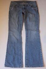 "AMERICAN EAGLE AE Artist Boot Cut Jeans Womens 4 x 32"" Reg Light Blue Distressed"
