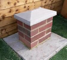 "2 x 260mm x 380mm 10"" x 15"" Apex Pier Caps / Coping Stones Concrete"