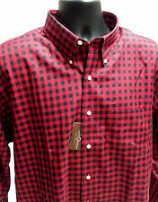Morganfield Red & Black Lumberjack Plaid 100% Cotton Shirt Size XL Cyber Monday