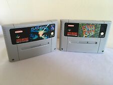 FLASHBACK & SIM CITY Super Nintendo SNES GAME Pal Flash Back ~ 1st Class P&P