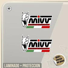 PEGATINA MIVV EXHAUST ESCAPES BANDERA ITALIA VINILO VINYL STICKER DECAL  ADESIVI