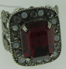 Sorrelli Crimson Pride Ring RCL5ASCP antique silver tone