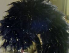 Incredible--huge Marching Band Helmet/Hat Blue Feather Plume~PLUME ONLY