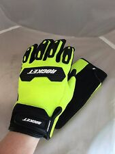 JOE ROCKET MENS VELOCITY 2.0 MESH HI-VIZ MOTORCYCLE GLOVES  LARGE TOUCH FINGER
