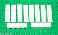 Lego White Plate 1x4 10 pieces (3710) NEW!!!