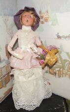 BYERS CHOICE Open House Spring Woman with Basket Flowers 2004 Signed Joyce   *