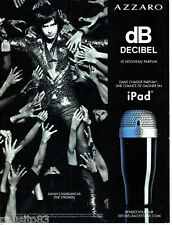 PUBLICITE ADVERTISING 086  2012  parfum homme Azzaro Db decibel & The strokes