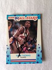 Isiah Thomas VINTAGE Autographed 89 Fleer PERSONALLY OBTAINED w/COA A GEM