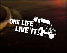 ONE LIFE Car Decal Sticker Vinyl Graphic Land Rover Defender Discovery 90 110