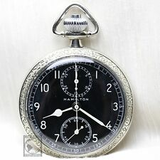 1942 Hamilton WWII Military Chronograph Bombing Timer 19 Jewel Pocket Watch 16s